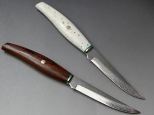 ヒロ・ダマスカス鋼ステーキナイフ