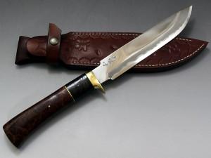 西田刃物工房 大祐作 白紙1号本割込 狩猟刀185
