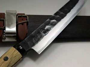 日野浦刃物工房 味方屋作 鎚目剣鉈7寸(210)両刃