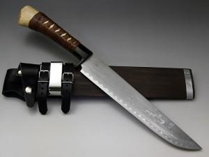 レッドオルカ ダマスカス剣鉈 陸奥8寸 乱刃