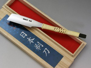 兼長作 日本剃刀(にほんかみそり)青二鋼