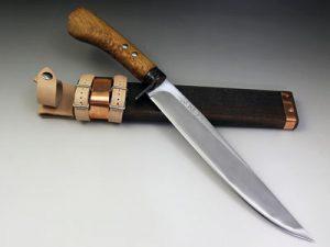 土居良明 鍛六十周年記念剣鉈8寸 240mm