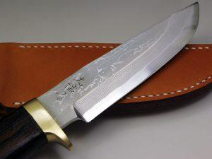 西田刃物工房 大祐作 白1号多層鋼ナイフ140片刃