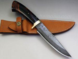 西田刃物工房 大祐作 白1号本割込多層鋼ナイフ160