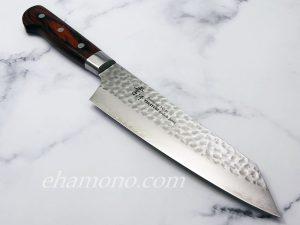 堺孝行 V金10号ダマスカス33層鎚目 剣型牛刀190